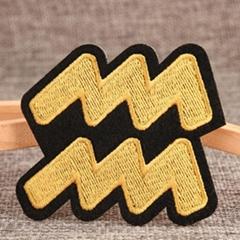 Aquarius Custom Iron On Patches No Minimum