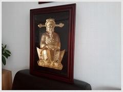 会转动的财神爷佛像财神摆件财神画像