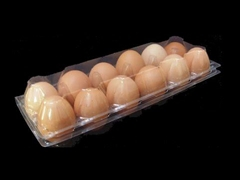 Disposable plastic egg tray packaging carton with hanger
