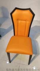 現代餐椅休閑酒店餐廳餐椅靠背皮軟包餐椅子