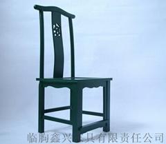 酒店專用新中式實木餐椅原木靠背椅