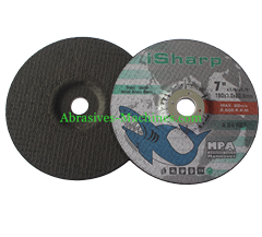 European Style Depressed Abrasive with Black Paper