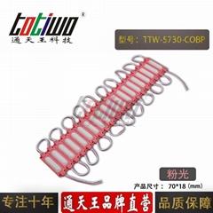 LED模组大功率光源COB模组灯箱广告牌发光字5730高亮注塑防水粉色