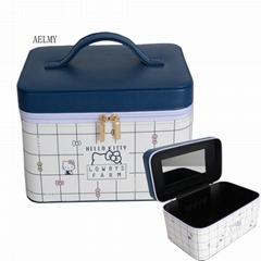 pu硬盒印刷可定製化妝盒