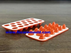 Double Color Plastic Collapsible Ice Cube Tray Mould