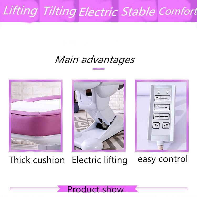 4 sections adjustable facial bed wholesale electric facial bed for sale 2