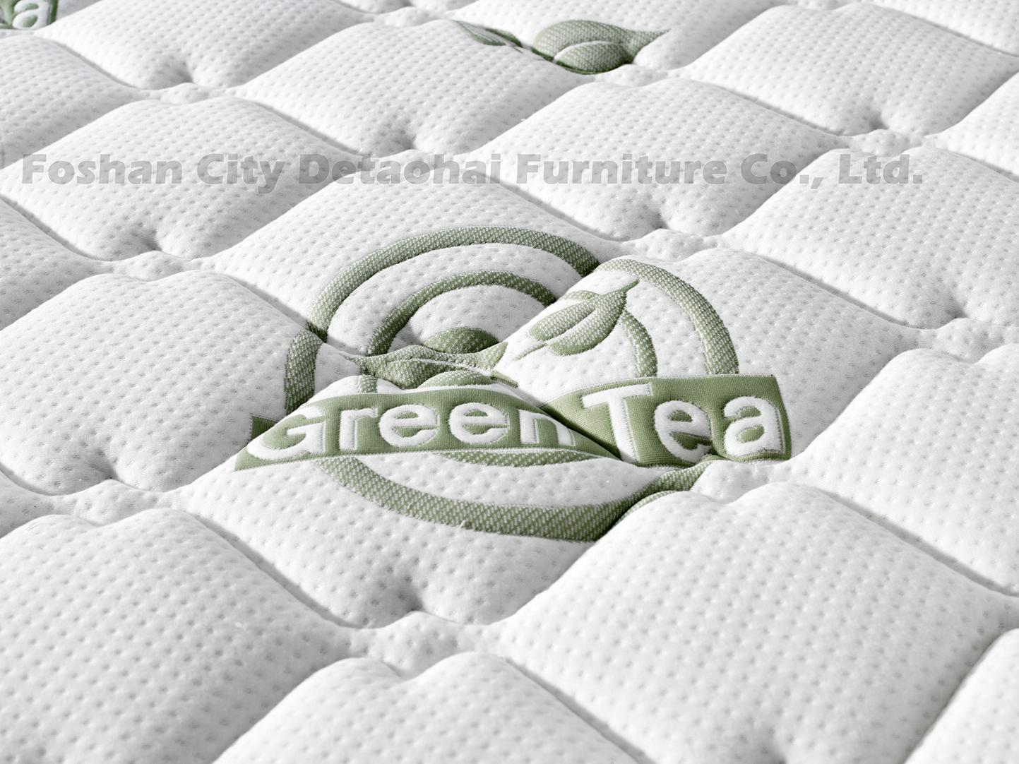 pocket spring latex mattress green tea plant knitted fabric compression mattress 3