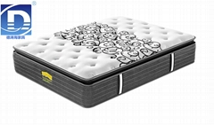 high quality pocket spring mattress with pillow top