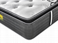 high quality pocket spring mattress with pillow top 2