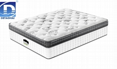 comfortable high-quality bedroom mattress with double pocket spring unit