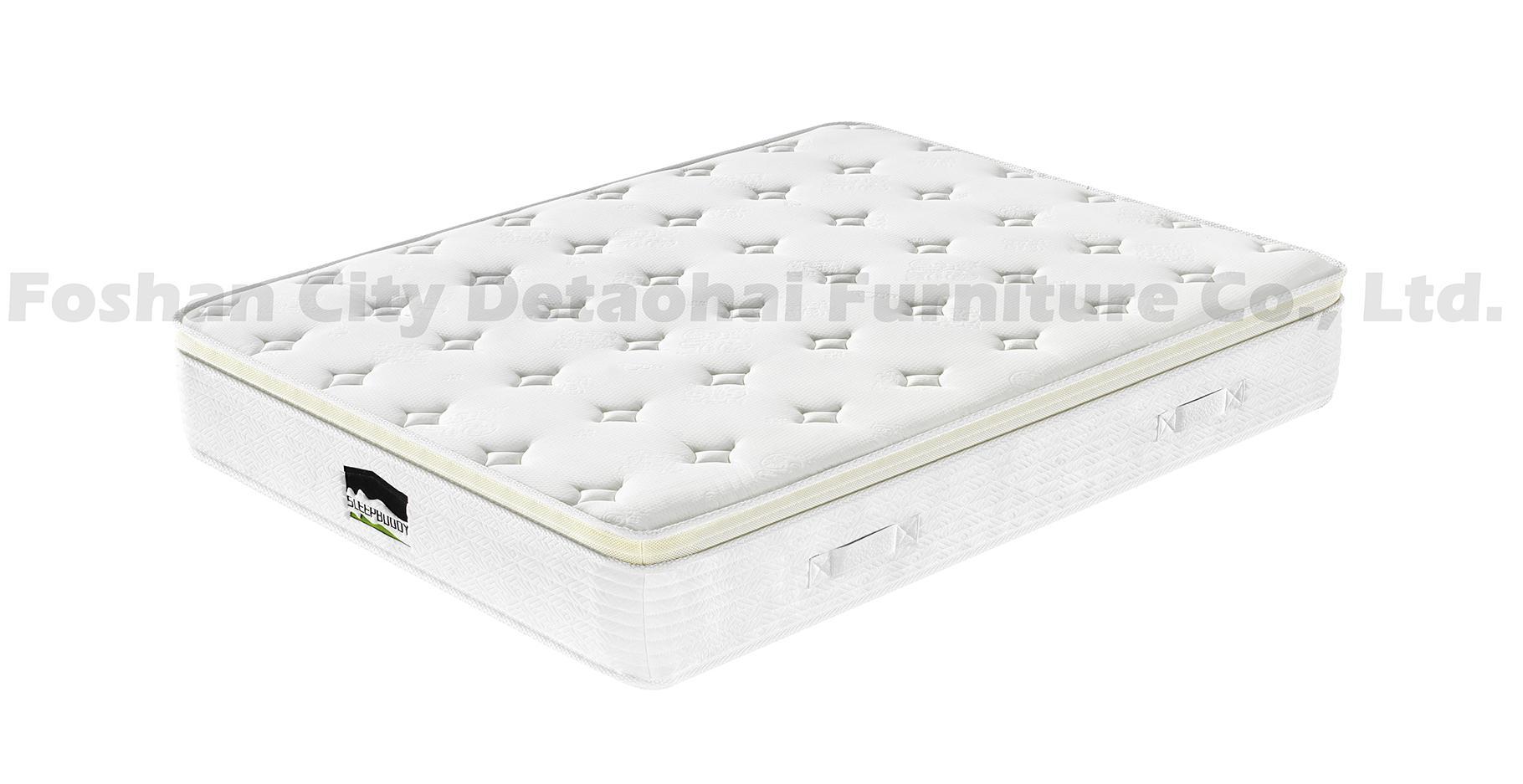 manufacturer sales pocket spring memory foam mattress with Euro top 2