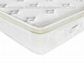 manufacturer sales pocket spring memory foam mattress with Euro top 3