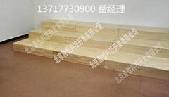 三层组合式合唱台 木质合唱台
