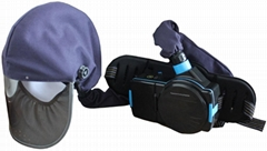 welding helmet with respirator