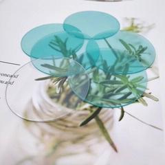 廠家直銷手電筒PC透明鏡片雙面帶膜圓形鏡片切割成形
