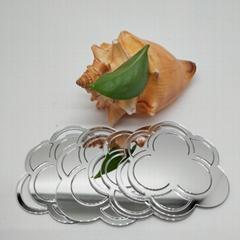 厂家直销PMMA银色自粘镜片亚克力反光镜片加工定制