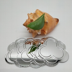 廠家直銷PMMA銀色自粘鏡片亞克力反光鏡片加工定製