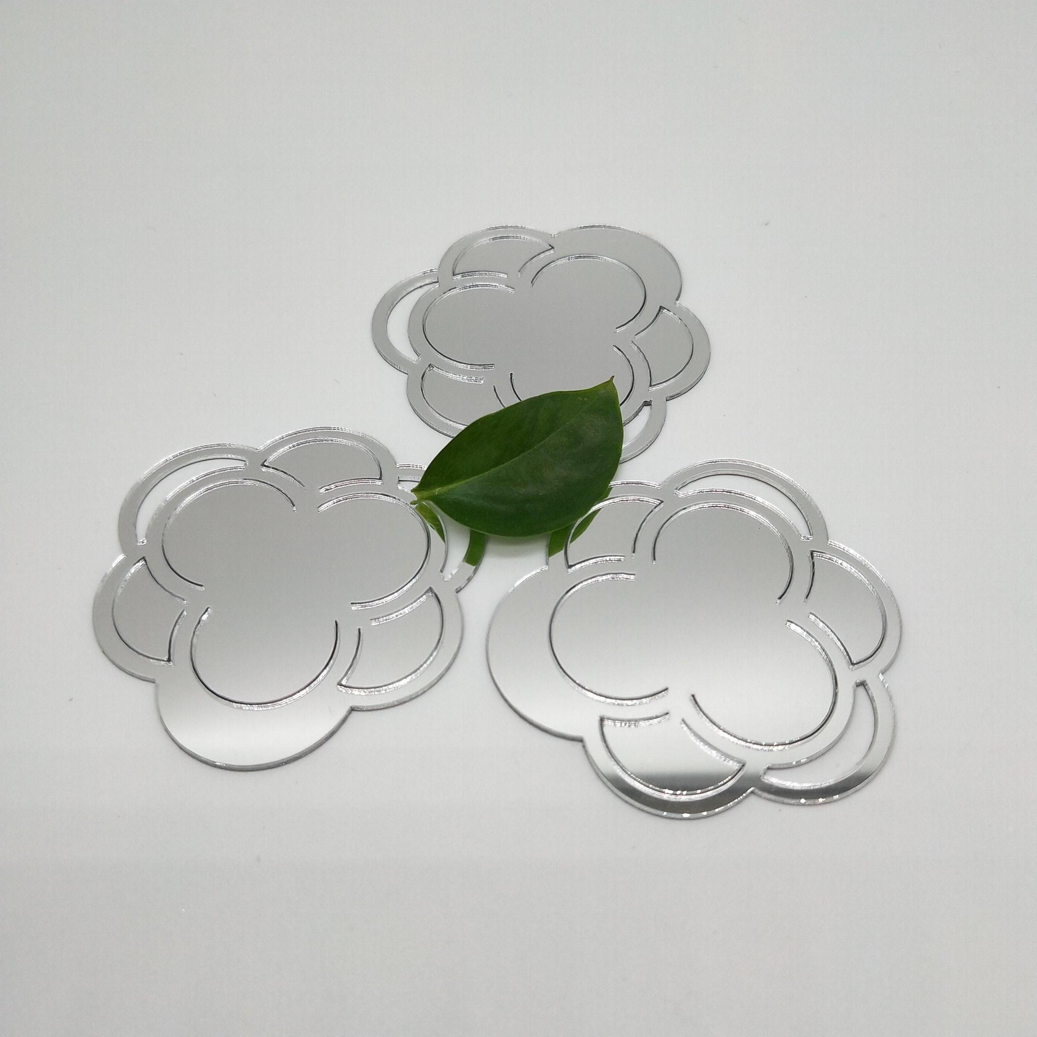 廠家直銷PMMA銀色自粘鏡片亞克力反光鏡片加工定製 2