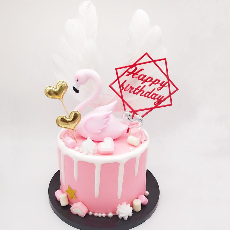 亞克力love蛋糕插件PMMA鏡面插牌定製 1