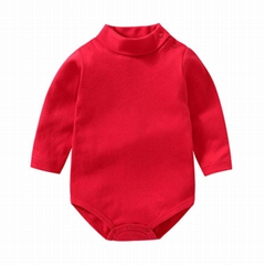 Hot sale baby clothes newborn long sleeve turtleneck bodysuits