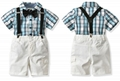 Fashion baby boy clothes sets toddler boy outfits suits 4