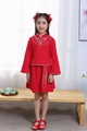 Cheap hot sale girl Tang suits summer