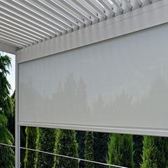 Customized windproof zip roller blind shade screen