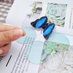 厂家加工定制手电筒透明塑料镜片