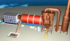 drum dryer n pelletizer to dry sludge