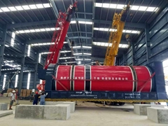 Rotary Harrow Dryer dries Biomass