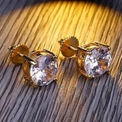 Hip Hop 925 Sterling Silver Stud Ladies Earrings