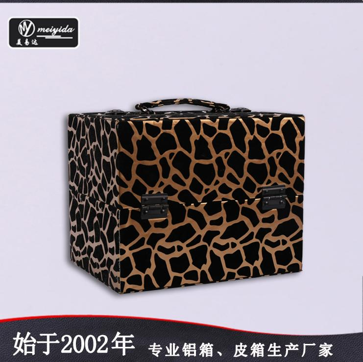 廠家定製新款珠寶手提托盤PU大容量多層首飾箱包 2