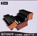 皮革手提PU化妝箱雙開盤珠寶盒大容量多層首飾盒 2