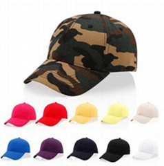 Custom solid color camouflage cap cotton lduck tongue cap Baseball Cap