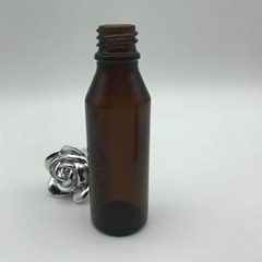 15ML 20ML 30ML 50ML customize Euro boston amber glass essential oil bottle