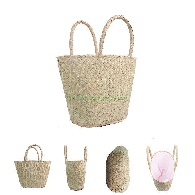 selling sea grass handwoven fashion bag 2