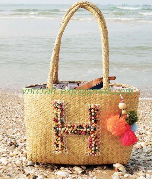 selling sea grass handwoven fashion bag 3