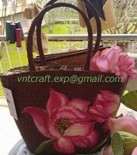 Selling palm leaf handwoven bag 2