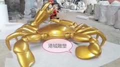 仿真海洋生物玻璃钢螃蟹雕塑以美化城市景观装饰品