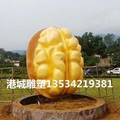 農業特色主題玻璃鋼核桃雕塑擺件