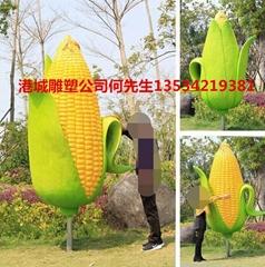 糧食粗糧造型玻璃鋼玉米卡通雕塑擺件