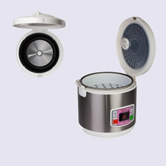 Stainless Steel Electric Rice Cooker with Voice Prompt and Braille