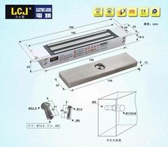LCJ力士堅磁力鎖MC150T電磁鎖