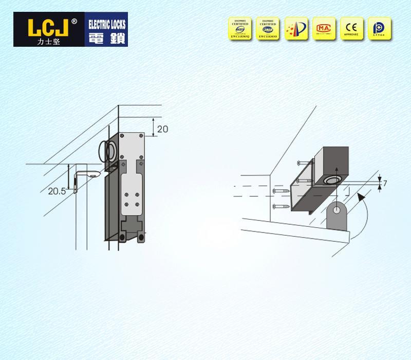 LCJ力士堅抽屜鎖EC-C2000-290S門禁電鎖 3