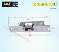 LCJ力士堅電鎖口OC3303門禁電鎖陰極鎖窄口玻璃門夾