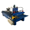 Corrugated cold glazed roofing sheet roll forming machine