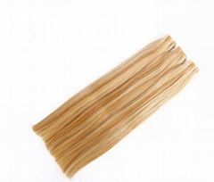 Double Drawn Remy  Tape in Hair Extensions Piano Color