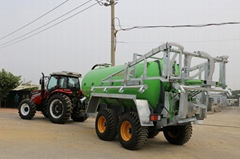 Tractor towed liquid fertilizer applicator slurry spreader