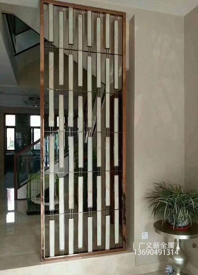 不鏽鋼玻璃屏風 2