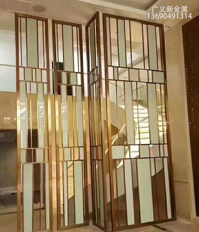 不鏽鋼玻璃屏風 3